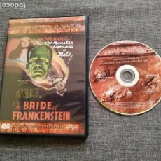 Cine: DVD THE BRIDE OF FRANKENSTEIN - KARLOFF - LA NOVIA DE FRANKESTEIN - LAEMMLE. Lote 165437470