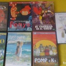 Cine: LOTE 7 FILMS STUDIO GHIBLI ** TOTORO ** CHIHIRO ** POMPOKO ** CASTILLO EN EL CIELO * PONYO * Y 2 MÁS. Lote 166086670