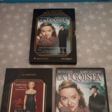 Cine: DVD. LA EGOÍSTA. ED. COLECCIONISTA. INCLUYE LIBRETO DE 60 PÁGS. CON BETTE DAVIS.. Lote 166169916