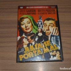 Cine: JULIA SE PORTA MAL DVD GREER CARSON ELIZABETH TAYLOR WALTER PIDGEON NUEVA PRECINTADA. Lote 183510721
