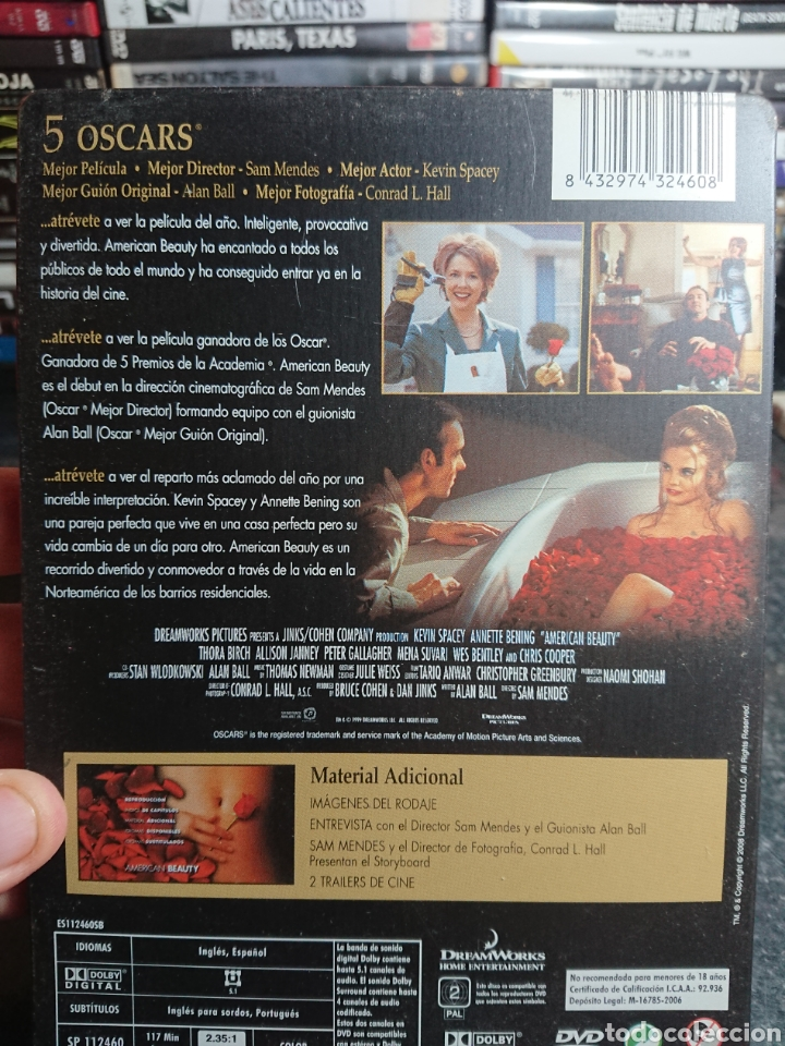 Cine: American Beauty, DVD Caja Metalica, Descatalogada - Foto 2 - 166306029