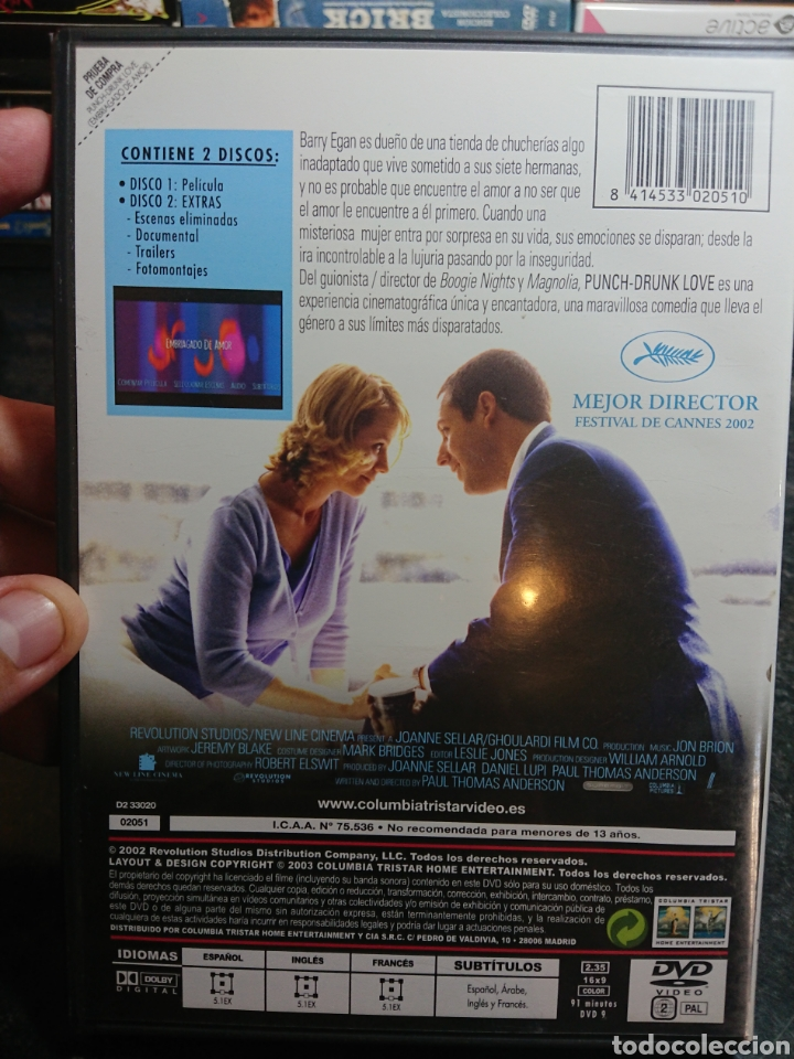 Cine: Punch Drunk Love 2 DVDs Descatalogada - Foto 2 - 166306277