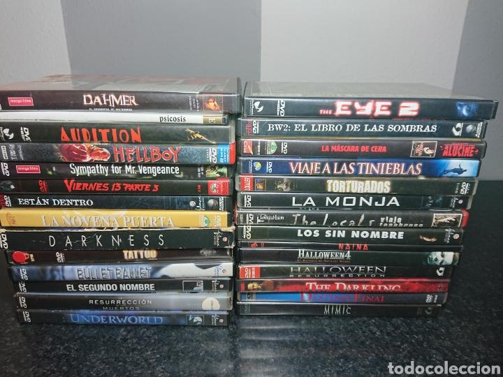 LOTE N°2 DE 28 PELÍCULAS DVD DE TERROR (MUCHAS DE ELLAS DESCATALOGADAS) / HALLOWEEN, VIERNES 13, ETC (Cine - Películas - DVD)