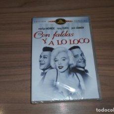 Cine: CON FALDAS Y A LO LOCO EDICION ESPECIAL DVD TONY CURTIS MARILYN MONROE JACK LEMMON COMO NUEVA. Lote 257405850