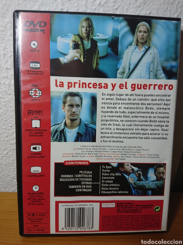 Cine: La Princesa y el Guerrero, DVD Descatalogadísimo (Tom Tykwer, 2000) - Foto 2 - 166462690