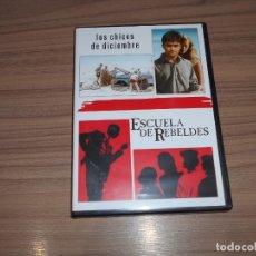 Cine: PACK ESCUELAS DE REBELDES + LOS CHICOS DE DICIEMBRE EDICION ESPECIAL 2 DVD WARNER COMO NUEVA. Lote 166515142