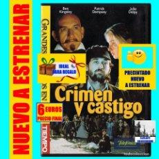 Cine: CRIMEN Y CASTIGO - BEN KINGSLEY / PATRICK DEMPSEY / JULIE DELPY - FIODOR DOSTOIEVSKI - NUEVA. Lote 166580894