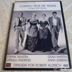 Cine: CINE DVD: CUATRO TIOS DE TEXAS - FRANK SINATRA, URSULA ANDRESS, DEAN MARTIN *IMPECABLE*. Lote 166584230