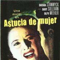 Cine: ASTUCIA DE MUJER - DVD CINE CLASICO . Lote 166738734