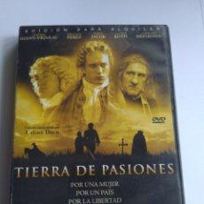 Cine: DVD TIERRA DE PASIONES. Lote 166752053