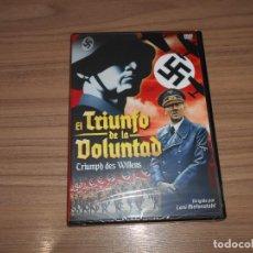 Cine: EL TRIUNFO DE LA VOLUNTAD DVD HITLER NAZIS NUEVA PRECINTADA. Lote 177373825
