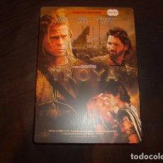 Cine: DVD TROYA , 2 DISCOS EN CAJA METALICA. Lote 166975076