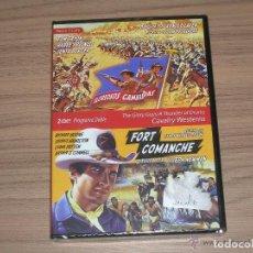 Cine: COLECCION CALVARY WESTERNS 2 DVD GLORIOSOS CAMARADAS Y FORT COMANCHE RICHARD BOONE NUEVA PRECINTADA. Lote 186035931