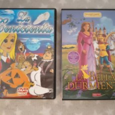 Cine: 2 DVDS. LA CENICIENTA + LA BELLA DURMIENTE.. Lote 167618212