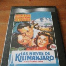 Cine: DVD LAS NIEVES DE KILIMANJARO. Lote 167682688