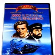 Cine: 20000 LEGUAS DE VIAJE SUBMARINO - DISNEY - KIRK DOUGLAS RICHARD BURTON DVD DESCATALOG.. Lote 168278792