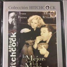 Cine: LO MEJOR ES LO MALO CONOCIDO (ALFLED HITCHCOK) (NUEVA Y PRECINTADA). Lote 194401805