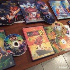 Cine: LOTE 6 WALT DISNEY DVD - PINOCHO 70 ANIVERSARIO, LIBRO SELVA 2 EDICIÓN ESPECIAL, REY LEÓN 3, .... Lote 168303136