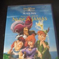 Cine: PETER PAN EN EL REGRESO AL PAIS DE NUNCA JAMÁS.DISNEY. Lote 168356240