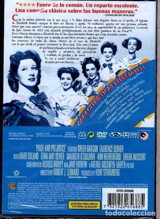 Cine: MAS FUERTE QUE EL ORGULLO DVD (L. OLIVIER) GANADORA DE UN OSCAR...ADAPTACION DE JANE AUSTEN - Foto 2 - 168623180