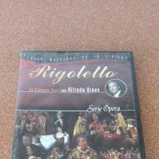 Cine: LIRICA RIGOLETTO OPERA DE GIUSEPPE VERDI CON ALFREDO KRAUS DVD PRECINTADO VER MÁS A LA VENTA . Lote 168715744