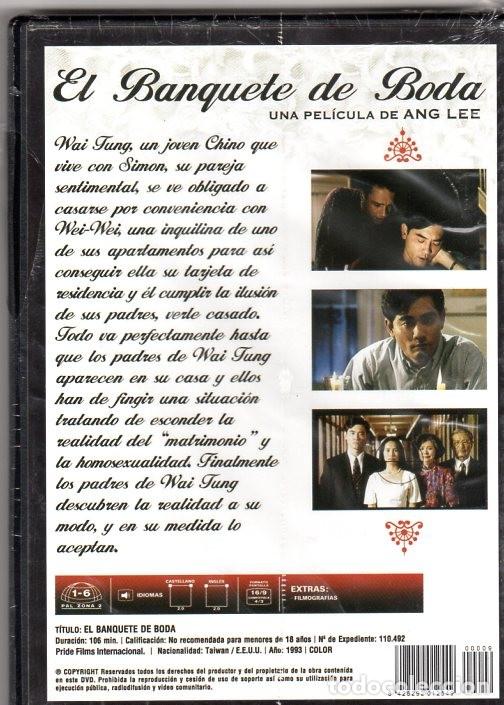 Cine: EL BANQUETE DE BODA *** PELICULA AÑO 1993 COLOR *** PRECINTADA - Foto 2 - 168821232