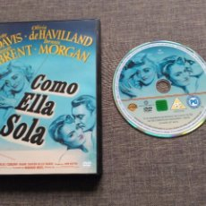 Cine: DVD COMO ELLA SOLA - BETTE DAVIS - OLIVIA DE AHVILLAND - GEORGE BRENT - MORGAN. Lote 103046479