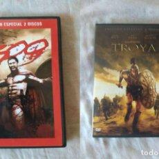 Cine: PACK DVD: 300 + TROYA. EDICIONES ESPECIALES 2 DISCOS.. Lote 168990232