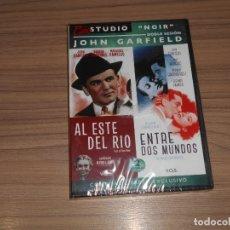 Cine: COLECCION JOHN GARFIELD AL ESTE DEL RIO + ENTRE DOS MUNDOS EDICION ESPECIAL + LIBRO NUEVA PRECINTADA. Lote 179945146