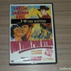 Cine: UNA VIDA POR OTRA DVD ROBERT TAYLOR AVA GARDNER ANTHONY QUINN NUEVA PRECINTADA. Lote 169414114