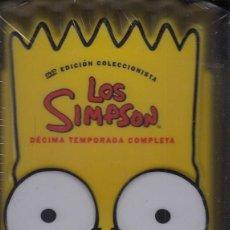 Cine: LOS SIMPSON - DECIMA TEMPORADA COMPLETA - PACK DVD NUEVO Y PRECINTADO - REGION 2. Lote 169451888