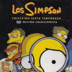 Cine: LOS SIMPSON - SEXTA TEMPORADA COMPLETA - PACK DVD NUEVO Y PRECINTADO - REGION 2. Lote 169451996