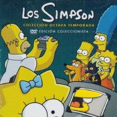 Cine: LOS SIMPSON - OCTAVA TEMPORADA COMPLETA - PACK DVD NUEVO Y PRECINTADO - REGION 2. Lote 169452080
