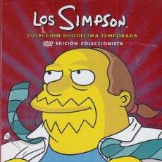 Cine: LOS SIMPSON - DUODECIMA TEMPORADA 12 COMPLETA - PACK DVD NUEVO Y PRECINTADO - REGION 2. Lote 169452204