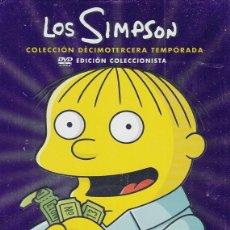 Cine: LOS SIMPSON - DECIMOTERCERA TEMPORADA 13 COMPLETA - PACK DVD NUEVO Y PRECINTADO - REGION 2. Lote 169452272