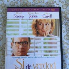 Cine: DVD SI DE VERDAD QUIERES. Lote 169744096