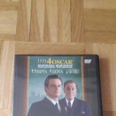 Cinema: PELICULA DVD - EL DISCURSO DEL REY - COLIN FIRTH - GEOFFREY RUSH. Lote 169869872