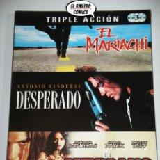Cine: EL MARIACHI + DESPERADO + EL MEXICANO, DIGIPACK CON TRES DVD, ROBERT RODRIGUEZ, PACK LOTE, D6. Lote 170233368