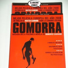 Cine: GOMORRA, CON DOS DVD, MATTEO GARRONE, ROBERTO SAVIANO, MAFIA ITALIANA, D6. Lote 170233384