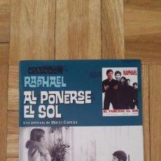 Cine: PELICULA DVD - AL PONERSE EL SOL - RAPHAEL - . Lote 170344704