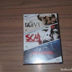 Cine: PACK TERROR 3 DVD SAW VI - SCAR - PIRAÑA EDICION ESPECIAL 3 DVD NUEVA PRECINTADA. Lote 261684510