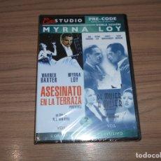 Cine: PACK MYRNA LOY ASESINATO EN LA TERRAZA + DE MUJER A MUJER EDICION ESPECIAL DVD + LIBRO PRECINTADA. Lote 288867543