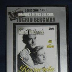 Cine: VENDO PELICULA DVD (RECUERDA) DE ALFRED HITCHCOCK.. Lote 170888870