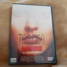 Cine: (S170) TESTIGO MUDO - DVD SEGUNDAMANO IMPOLUTAS. Lote 170947678