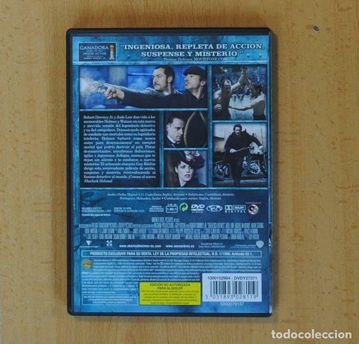 Cine: SHERLOCK HOLMES - DVD - Foto 2 - 170974709