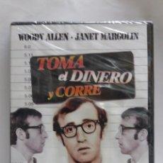 Cine: PELICULA DVD TOMA EL DINERO Y CORRE,WOODY ALLEN Y JANET MARGOLIN. Lote 171094495