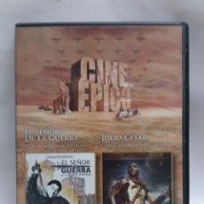 Cine: CINE EPICO DOS PELICULAS, EL SEÑOR DE LA GUERRA - JULIO CESAR. Lote 171096512