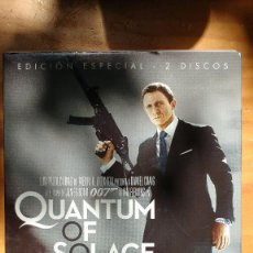 Cine: 007 - JAMES BOND - QUANTUM OF SOLACE - 2 DISCOS - CAJA + ESTUCHE. Lote 171101559