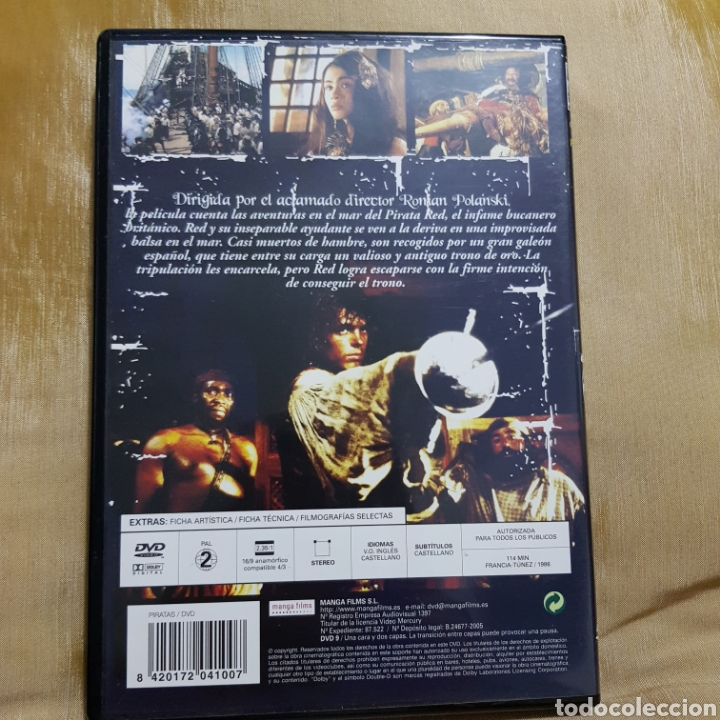 Cine: (S175) piratas - DVD SEGUNDAMANO IMPOLUTA - Foto 2 - 171148043