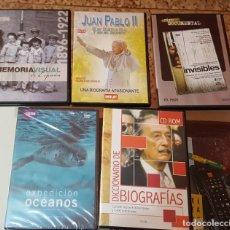 Cine: LOTE 5 DVD'S Y/O CD-ROM DOCUMENTALES - MEMORIA VISUAL - JUAN PABLO II - OCÉANOS - BIOGRAFÍAS. Lote 171160947